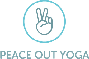 Peace out yoga -logo with color copy